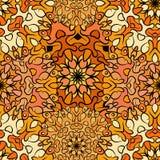 Seamless orange artistic exotic beautiful pattern. Stock Image