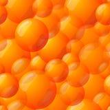 Seamless Orange Ball Pattern Royalty Free Stock Images