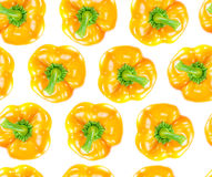Seamless orange bell pepper Stock Images