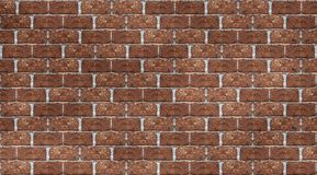 Seamless orange brick wall tile able pattern texture. Uneven shape. For interior, exterior render material mapping.  royalty free stock photo