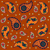 Seamless orange brown pattern, traditional Asian Royalty Free Stock Images