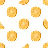 Seamless orange dotted pattern Handdrawn vector illustration stock illustration