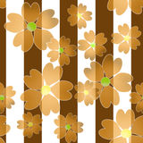 Seamless orange floral pattern background. Seamless orange floral pattern striped background Royalty Free Stock Photo