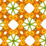 Seamless orange flower pattern Stock Images