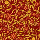 Seamless with orange  flowers Stock Photos