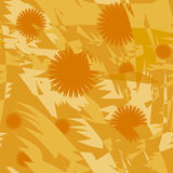 Seamless  with orange flowers Stock Image