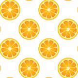Seamless Orange Fruit Pattern Stock Image