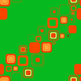Seamless orange and green background Stock Photography