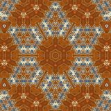 Seamless orange jewel pattern 001 Stock Photos