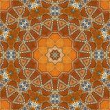Seamless orange jewel pattern 002 Royalty Free Stock Photography