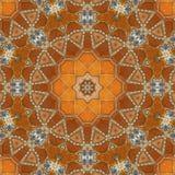 Seamless orange jewel pattern 002 Royalty Free Stock Photography