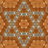 Seamless orange jewel pattern 003 Royalty Free Stock Photography