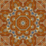 Seamless orange jewel pattern 005 Stock Photo