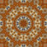 Seamless orange jewel pattern 007 Stock Photos