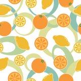 seamless orange modell för citron vektor illustrationer