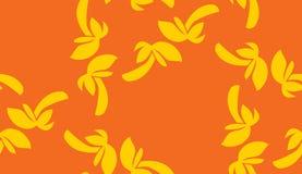 Seamless Orange Palm Tree Pattern Royalty Free Stock Photo