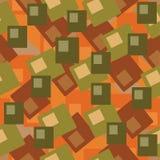 Seamless orange pattern Stock Photography