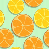 Seamless orange pattern Stock Photos