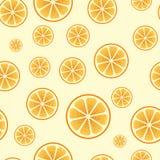 Seamless orange pattern Stock Image