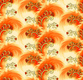 Seamless orange pattern imitating plumelets Royalty Free Stock Photos