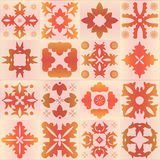 Seamless orange pattern majolica, arabic, indian, armenia. stock Stock Photo