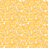 Seamless orange pattern with maple leaves. Vector illustration. Stock Image