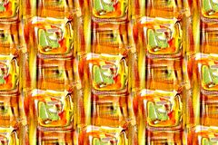 Seamless Orange Red and Green Design Royalty Free Stock Photo