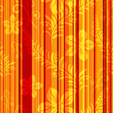 Seamless orange-red striped pattern Royalty Free Stock Images