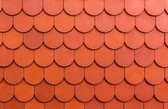 Seamless orange roof  tile texture background. Royalty Free Stock Photos