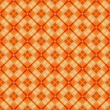 Seamless orange and yellow diamond check geometry pattern background. Stock Image