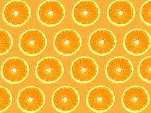 Seamless Oranges background Royalty Free Stock Photos