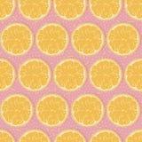 Seamless oranges background. Seamless pattern with oranges-vector illustration. Slices of orange on the background stock illustration
