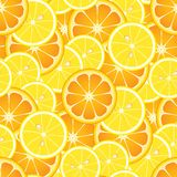 Seamless Oranges and Lemons. You can use this repeating pattern to fill your own custom shapes and backgrounds Royalty Free Stock Images