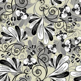 Seamless orchid background stock illustration