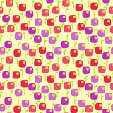 Seamless Orchid Square Flowers Background Stock Images