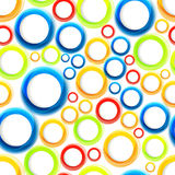 Seamless organic pattern with bright colorful circles Royalty Free Stock Photos
