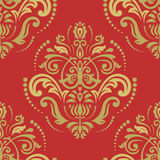 Seamless Orient  Background. Oriental  fine texture with damask, arabesque and floral elements. Seamless abstract background. Colorful pattern with red and Stock Photo