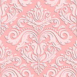 Seamless  Orient Pattern With 3D Elements Royalty Free Stock Photography