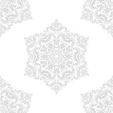 Seamless Oriental Background. Oriental classic ornament. Seamless abstract light gray pattern. Fine orient background for design and decorate Royalty Free Stock Photos