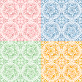 Seamless oriental flora pattern Royalty Free Stock Images