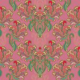 Seamless oriental floral pattern Stock Photo