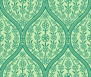 Seamless Oriental floral pattern. Vector Green Oriental floral seamless pattern wallpaper Royalty Free Stock Photo