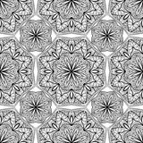 Seamless, oriental,  geometric pattern on a white background. Royalty Free Stock Photo