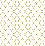 Seamless oriental grille. Seamless golden oriental window grille  pattern Royalty Free Stock Photo