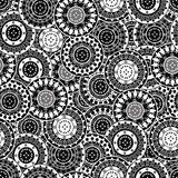 Seamless with oriental motifs in black and white Royalty Free Stock Images