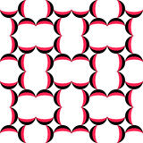 56-6-5. Seamless Oriental Ornament. Abstract Black and Red Background. Vector Geometric Pattern Royalty Free Stock Images