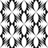Seamless Oriental Ornament. Abstract Black and White Background. Vector Geometric Pattern Vector Illustration