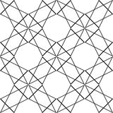 205-4. Seamless Oriental Ornament. Abstract Black and White Background. Vector Geometric Pattern Royalty Free Stock Image