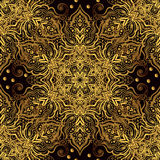 Seamless oriental ornament in the style of baroque. Traditional classic vector golden pattern Royalty Free Stock Photos
