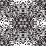 Seamless oriental ornament in the style of baroque. Traditional classic vector pattern Stock Photos
